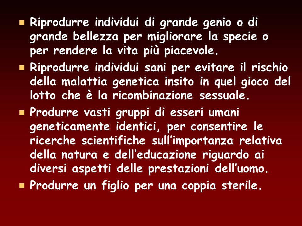 Riprodurre individui di grande genio o di grande bellezza per migliorare la specie o per rendere la vita più piacevole.
