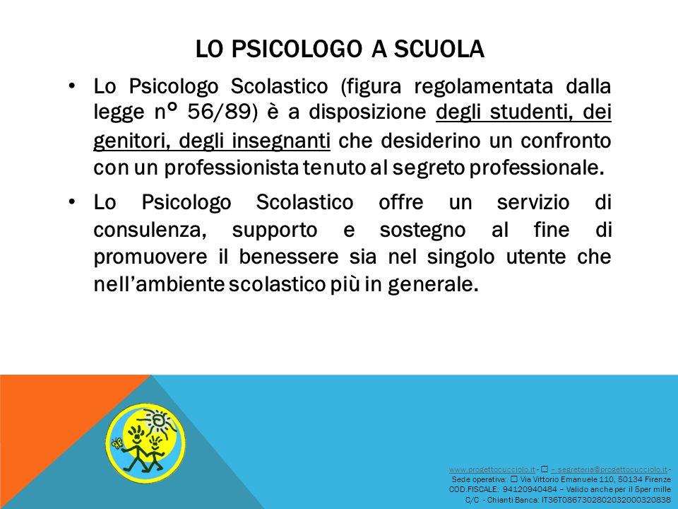 Lo psicologo A SCUOLA