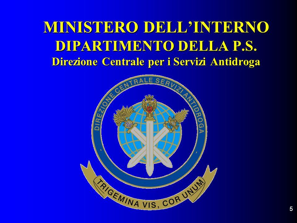 MINISTERO DELL'INTERNO DIPARTIMENTO DELLA P. S