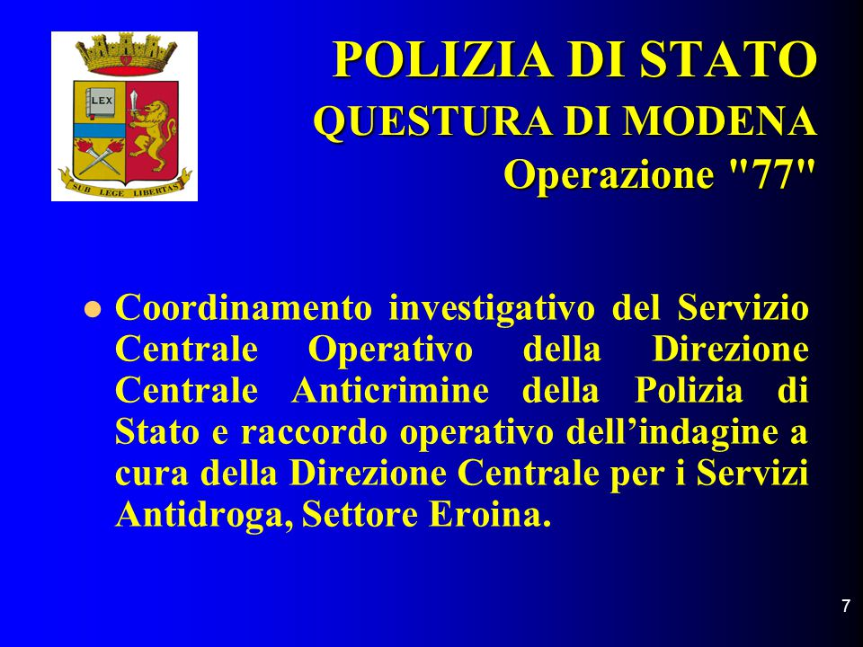 Polizia di stato questura di modena squadra mobile for Questura di carpi permesso di soggiorno