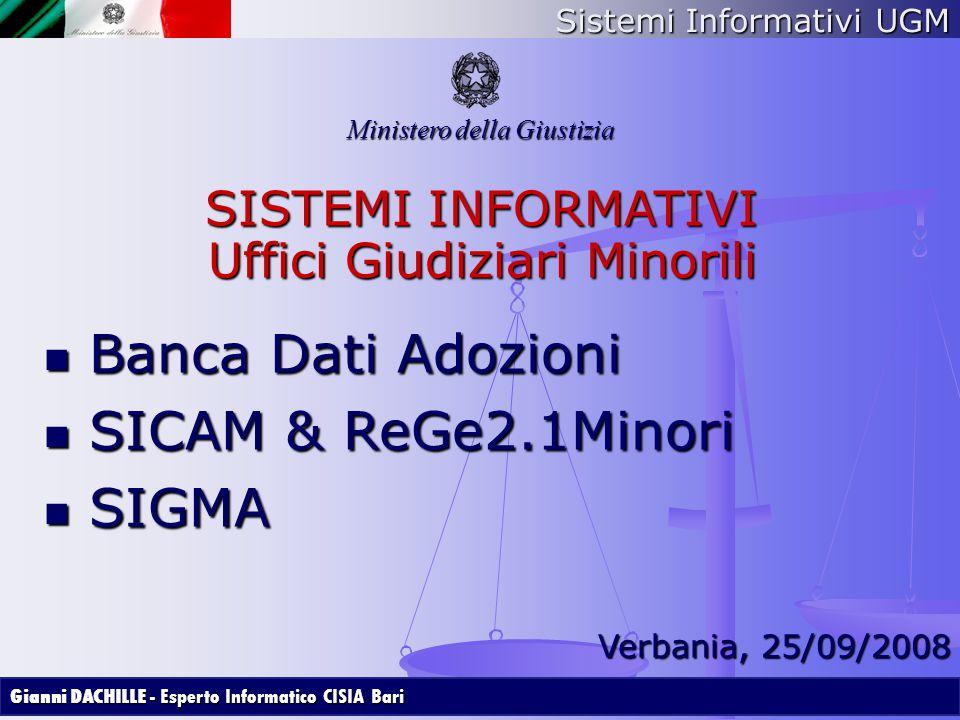 Banca Dati Adozioni SICAM & ReGe2.1Minori SIGMA