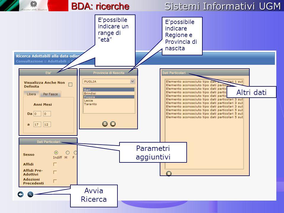 Sistemi Informativi UGM BDA: ricerche