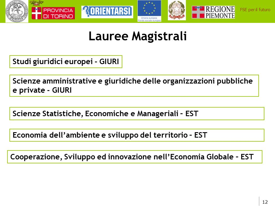 Lauree Magistrali Studi giuridici europei - GIURI