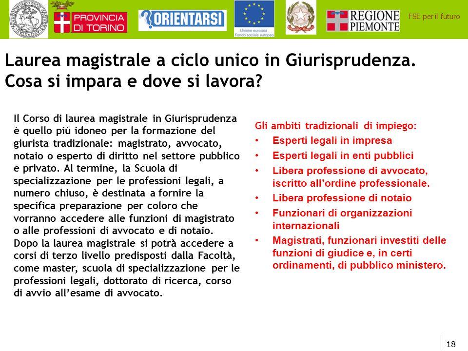 Laurea magistrale a ciclo unico in Giurisprudenza.