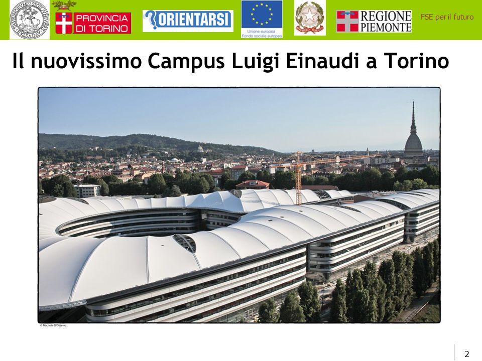 Il nuovissimo Campus Luigi Einaudi a Torino