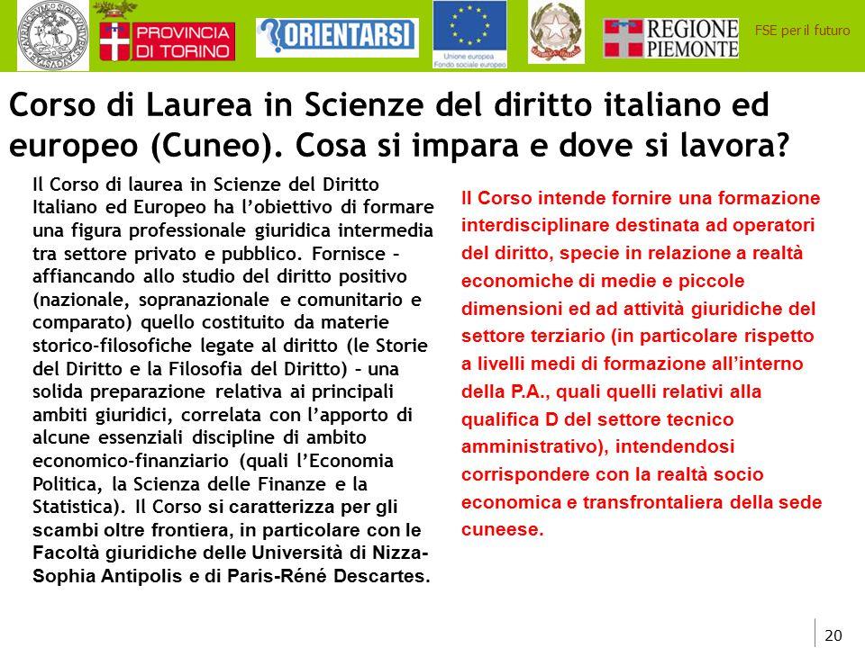 Corso di Laurea in Scienze del diritto italiano ed europeo (Cuneo)