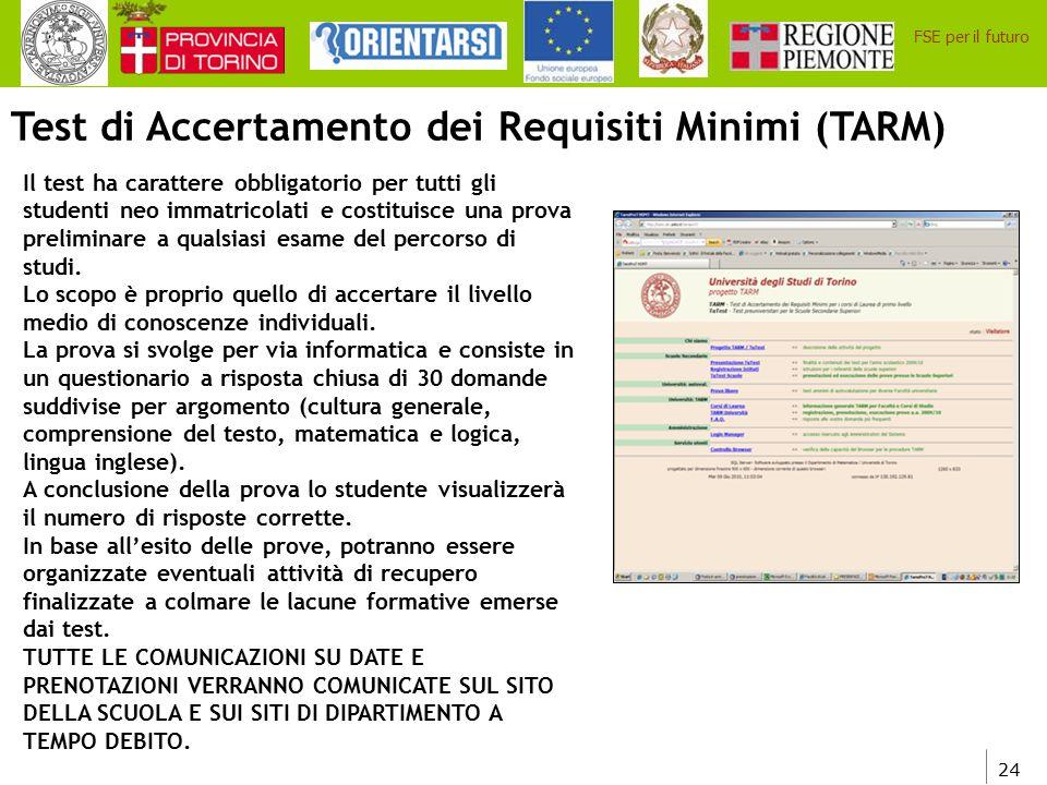 Test di Accertamento dei Requisiti Minimi (TARM)