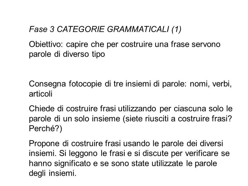 Fase 3 CATEGORIE GRAMMATICALI (1)