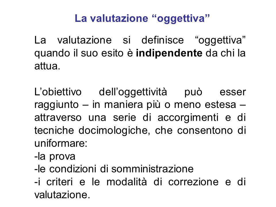 La valutazione oggettiva