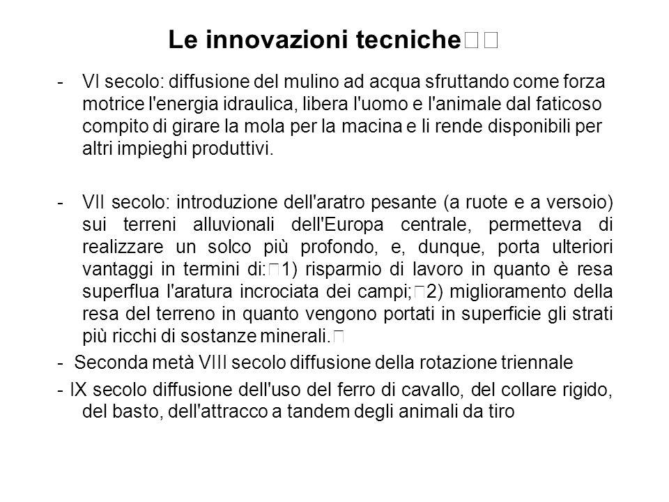 Le innovazioni tecniche