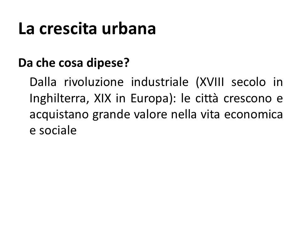 La crescita urbana