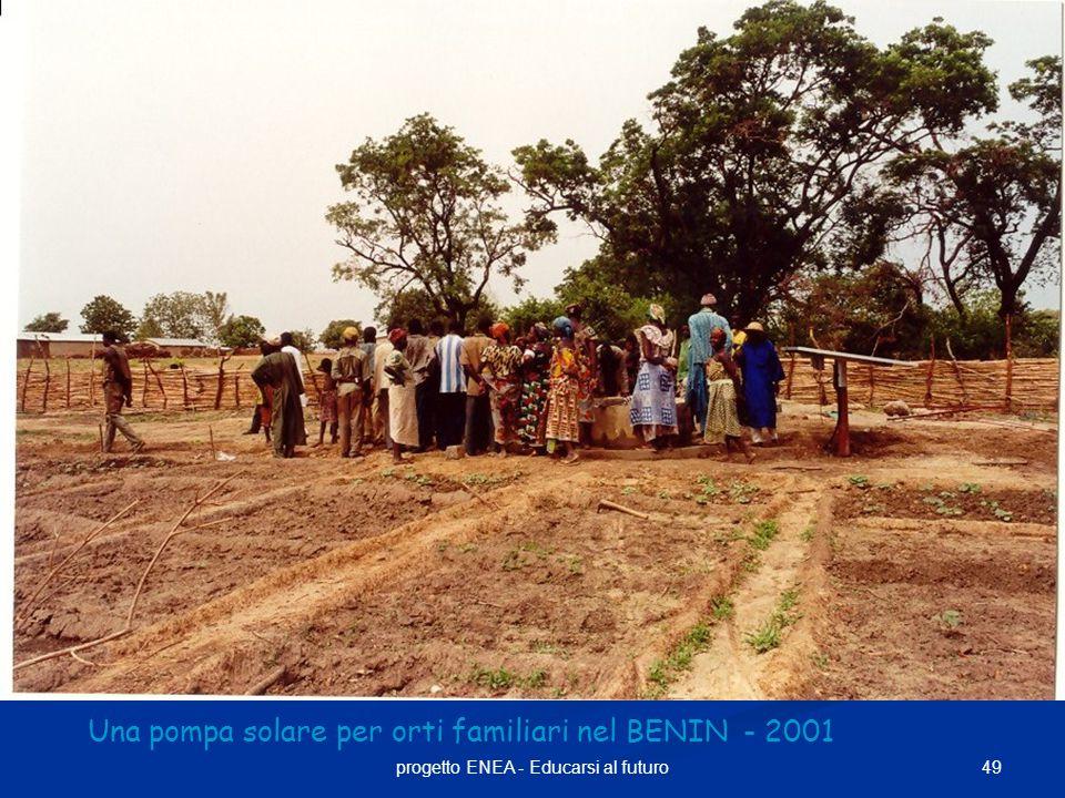 Una pompa solare per orti familiari nel BENIN - 2001