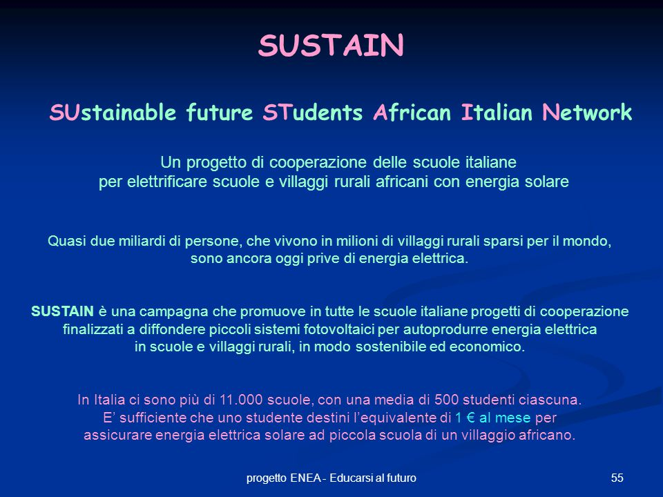 SUstainable future STudents African Italian Network