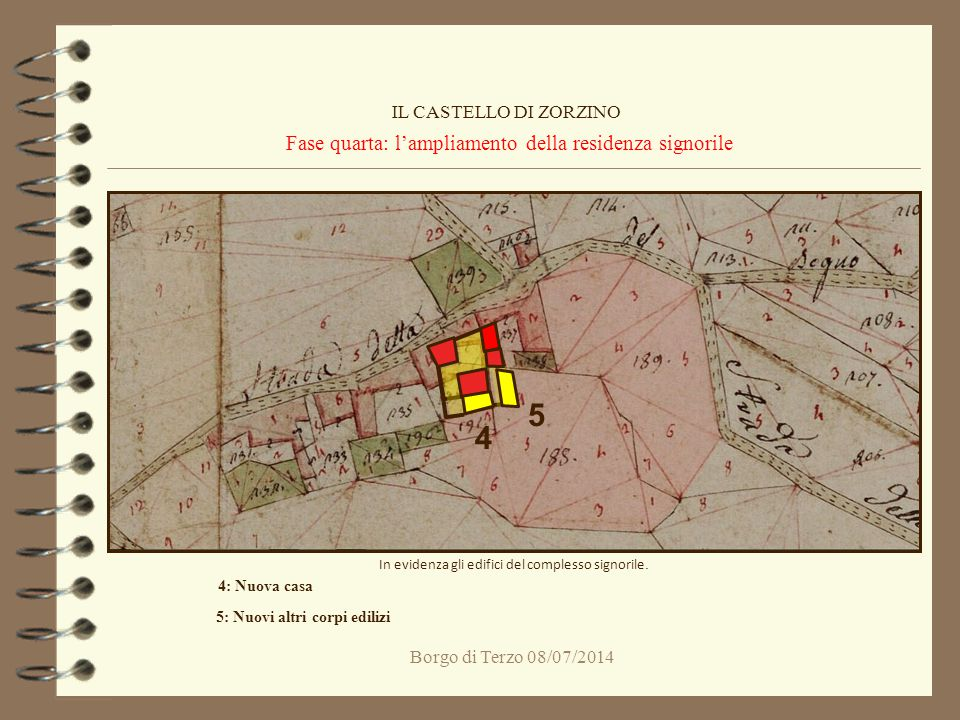 Fase quarta: l'ampliamento della residenza signorile