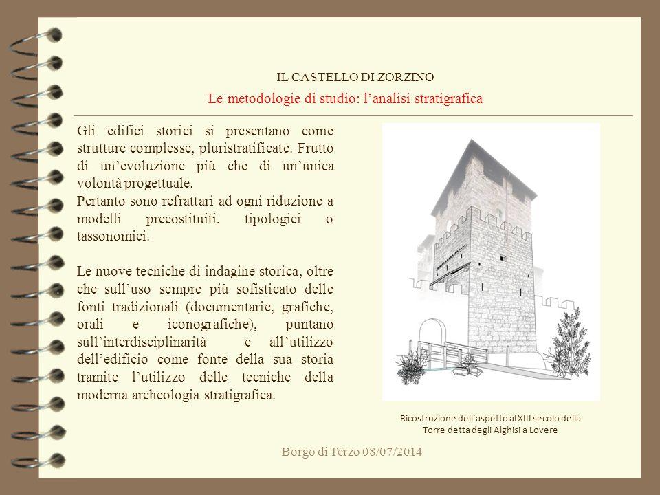 Le metodologie di studio: l'analisi stratigrafica