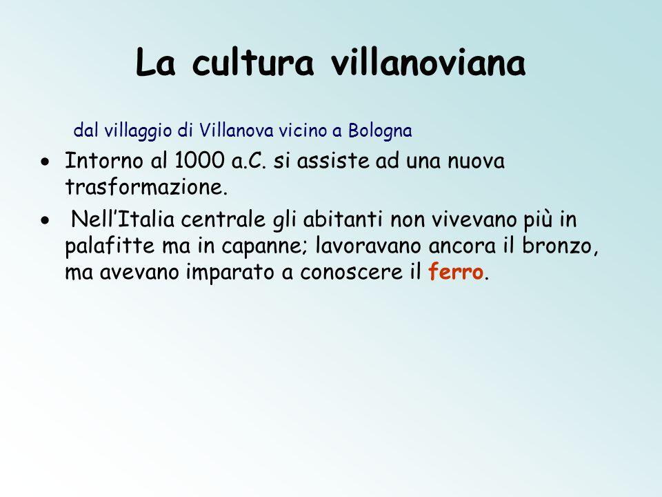 La cultura villanoviana