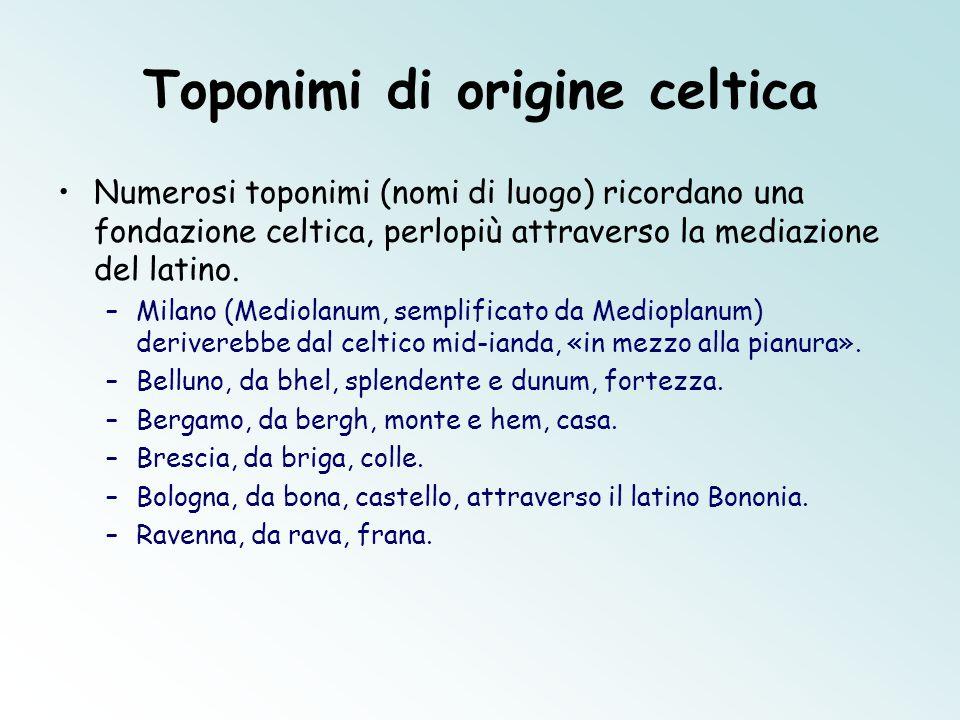 Toponimi di origine celtica