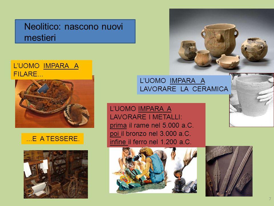 Neolitico: nascono nuovi mestieri