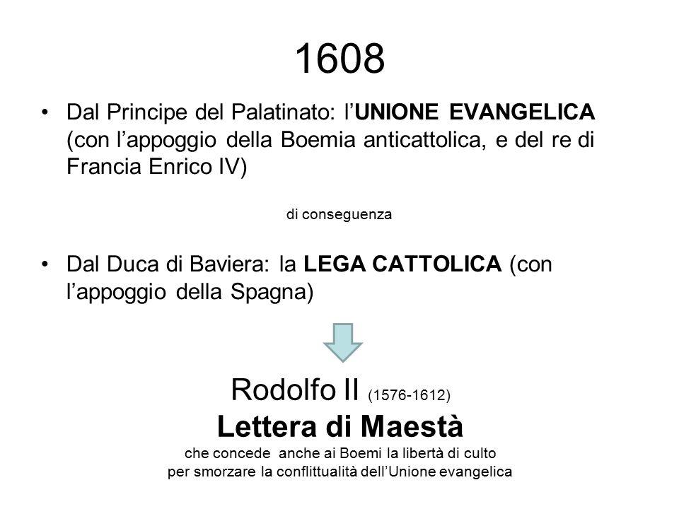 1608 Rodolfo II (1576-1612) Lettera di Maestà