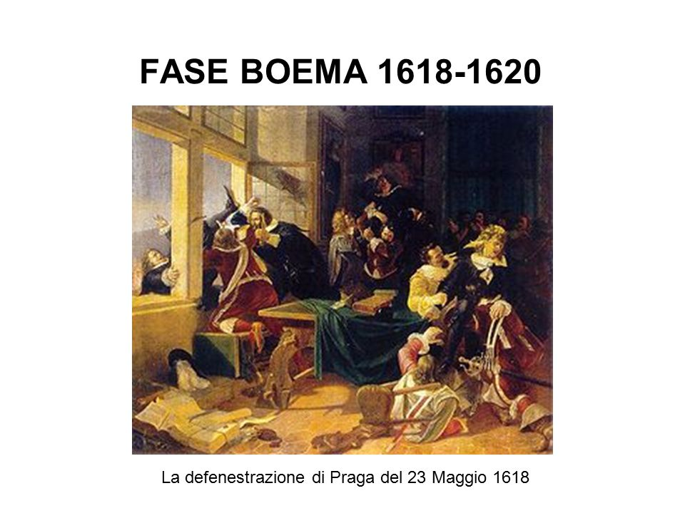 La defenestrazione di Praga del 23 Maggio 1618