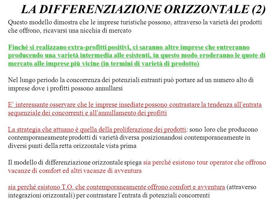 LA DIFFERENZIAZIONE ORIZZONTALE (2)