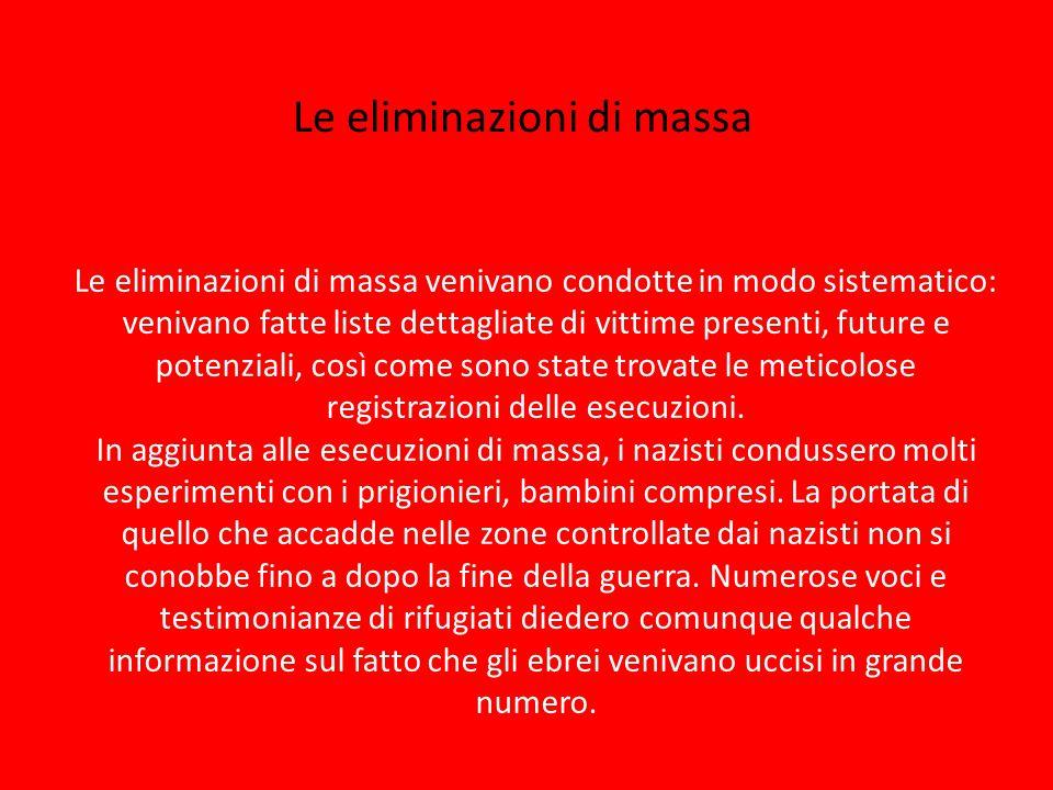 Le eliminazioni di massa
