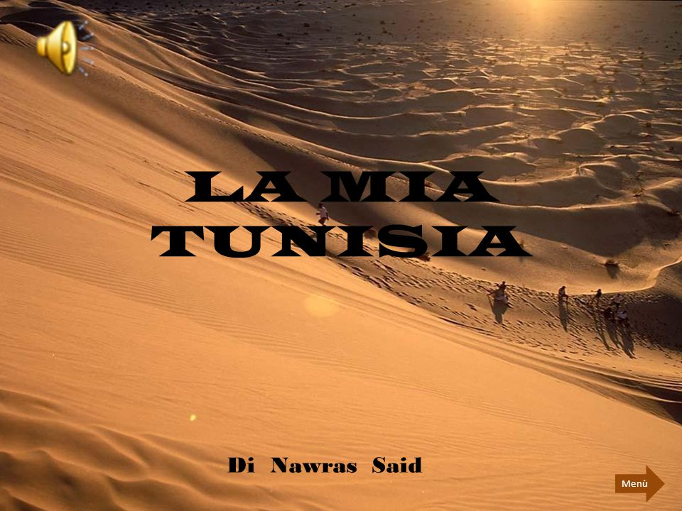 LA MIA TUNISIA Di Nawras Said Menù