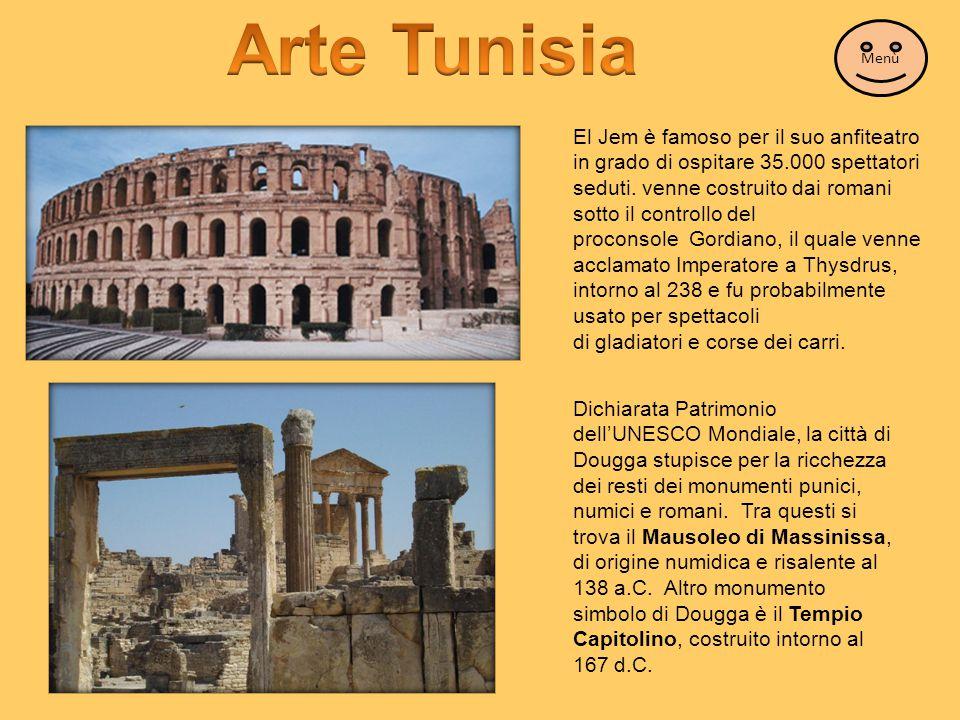 Arte Tunisia Menù.