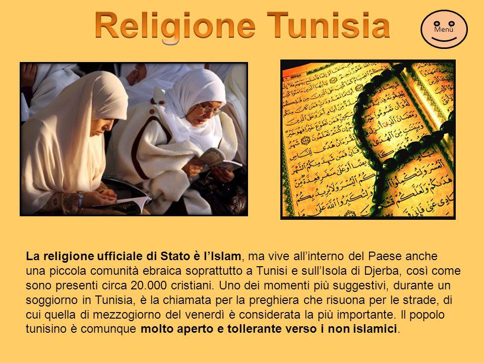 Religione Tunisia Menù.