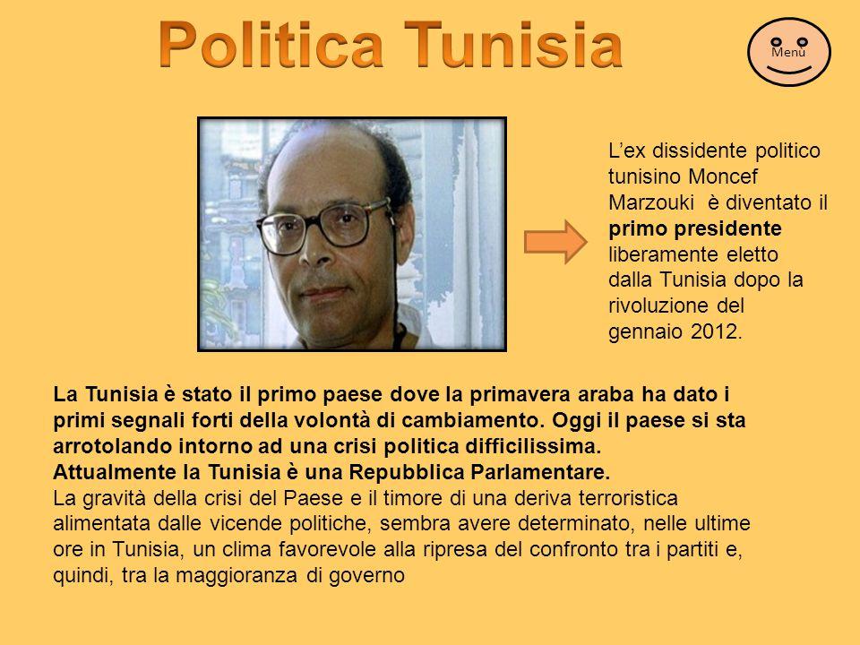 Politica Tunisia Menù.