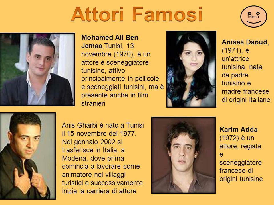 Attori Famosi Menù.