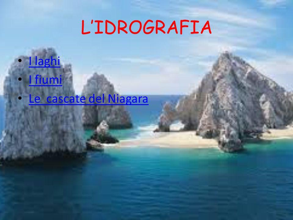 L'IDROGRAFIA I laghi I fiumi Le cascate del Niagara