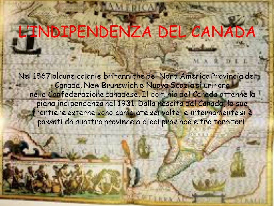 L'INDIPENDENZA DEL CANADA