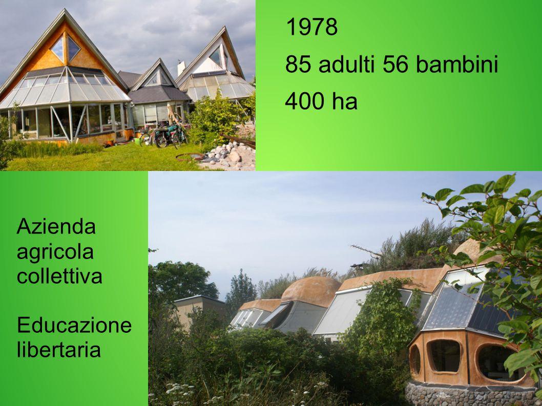 1978 85 adulti 56 bambini 400 ha Azienda agricola collettiva