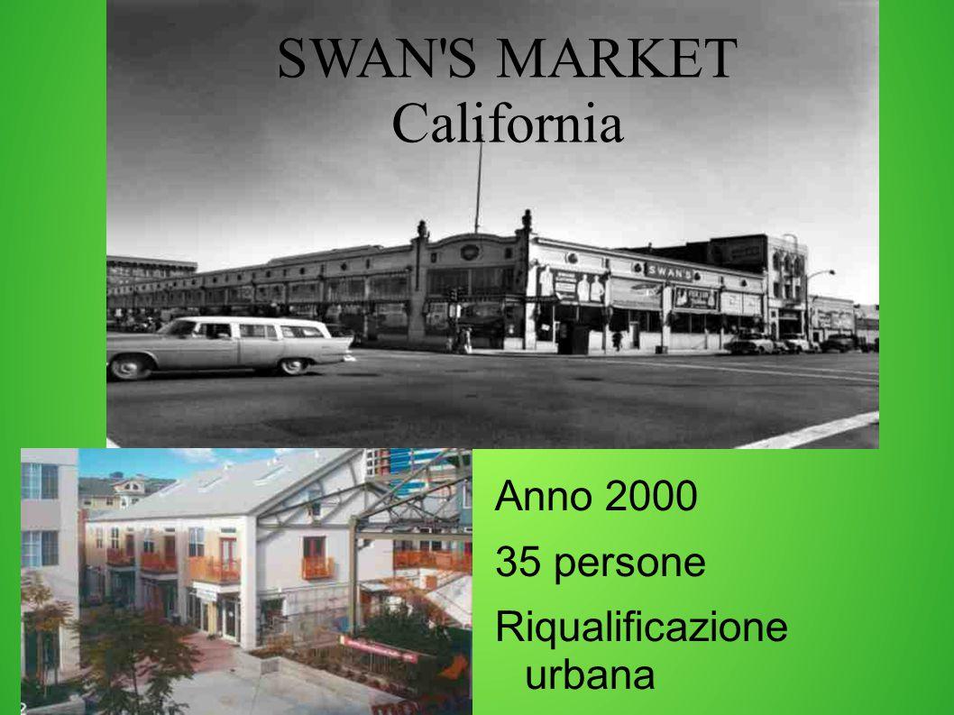 SWAN S MARKET California Anno 2000 35 persone Riqualificazione urbana