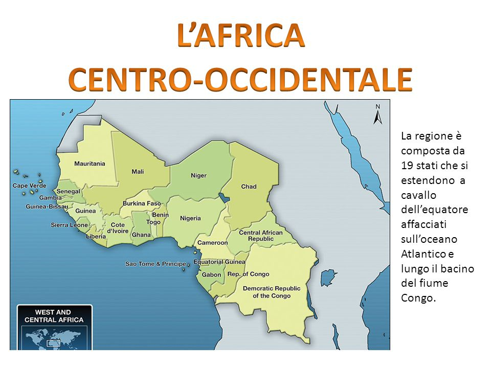 L'AFRICA CENTRO-OCCIDENTALE