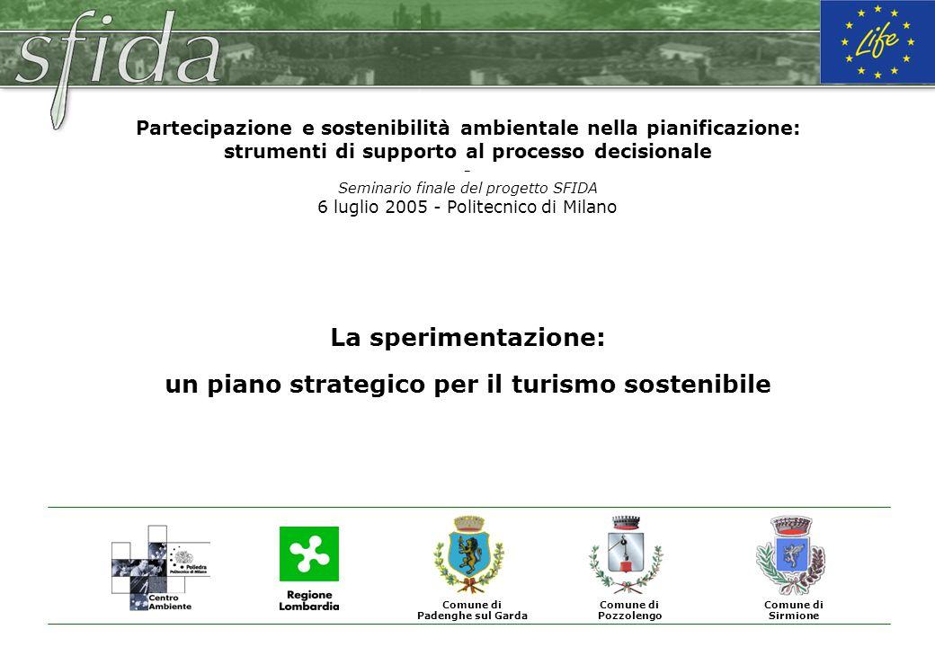 La sperimentazione: un piano strategico per il turismo sostenibile