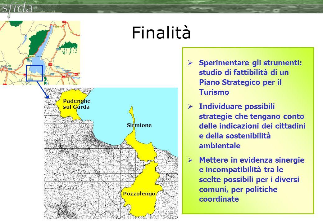 Finalità Sperimentare gli strumenti: studio di fattibilità di un Piano Strategico per il Turismo.