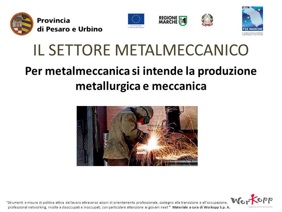 Per metalmeccanica si intende la produzione metallurgica e meccanica