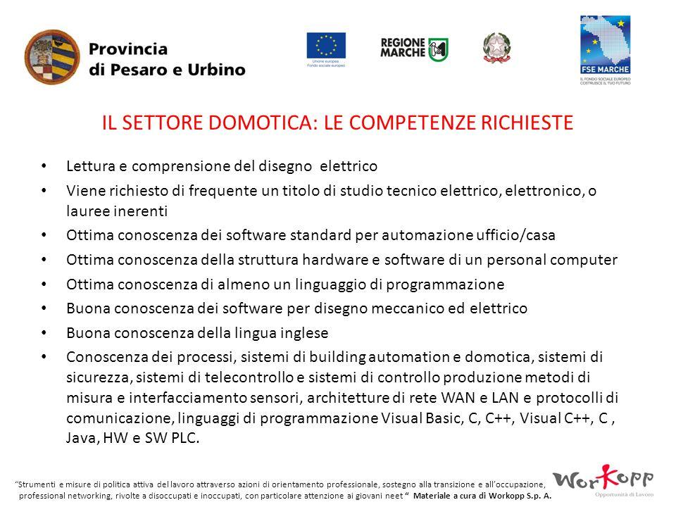 Il settore DOMOTICA: le competenze richieste