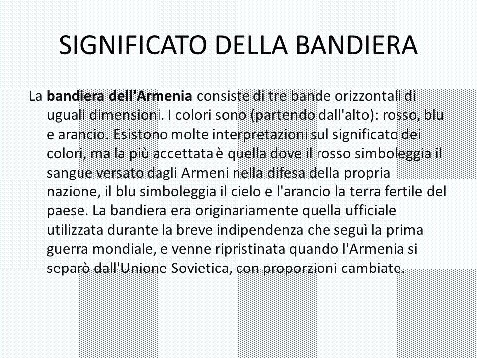 SIGNIFICATO DELLA BANDIERA