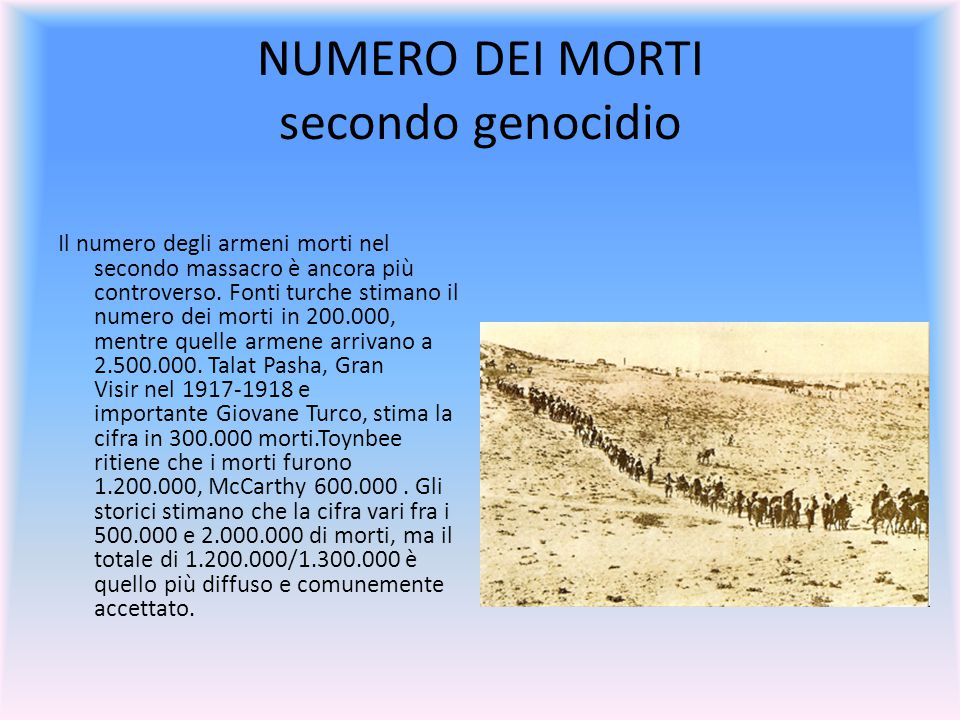 NUMERO DEI MORTI secondo genocidio