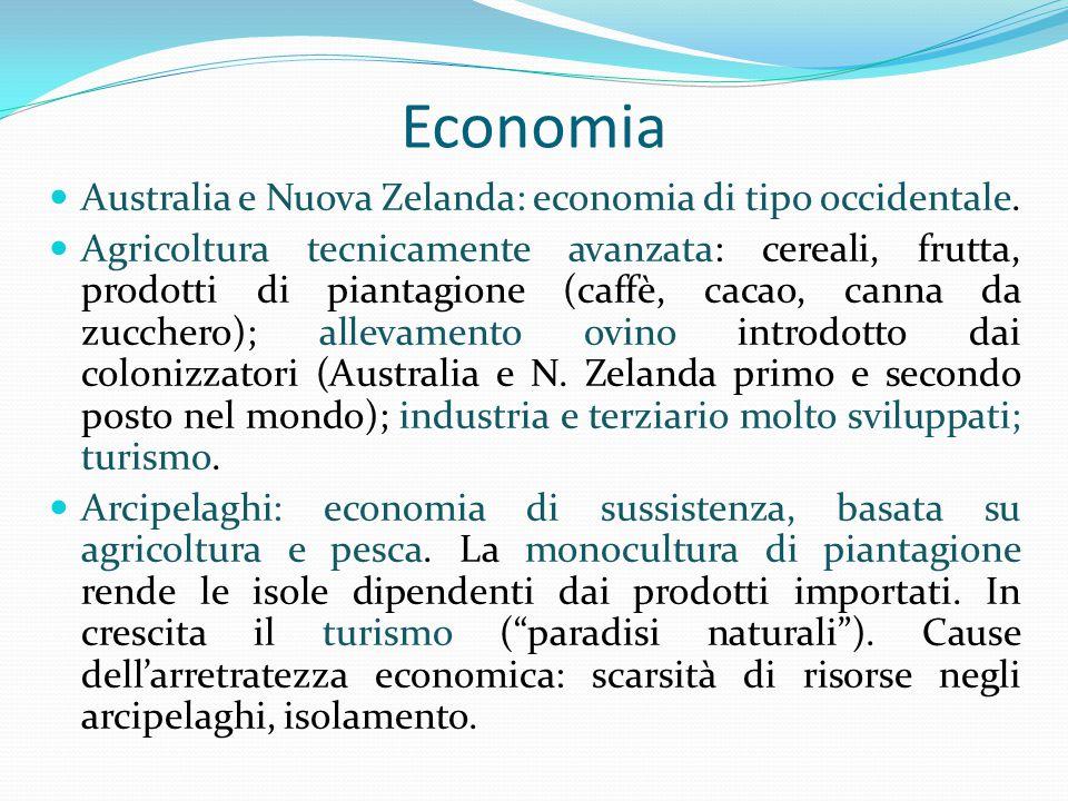 Economia Australia e Nuova Zelanda: economia di tipo occidentale.