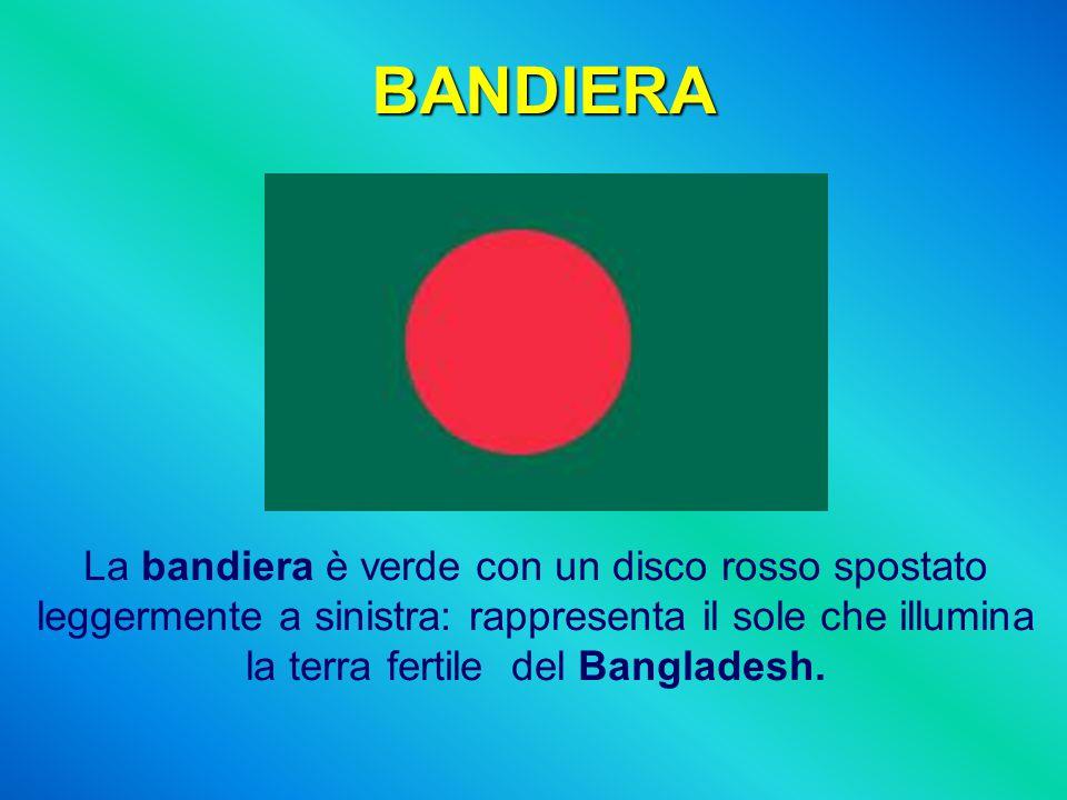 BANDIERA La bandiera è verde con un disco rosso spostato