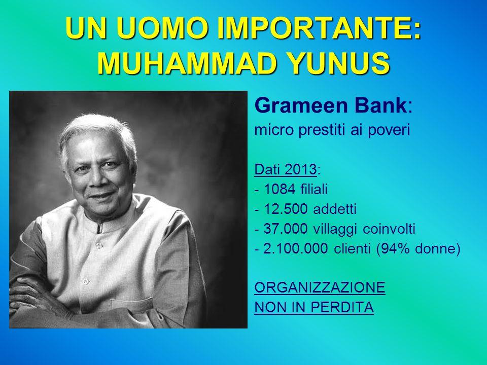 UN UOMO IMPORTANTE: MUHAMMAD YUNUS