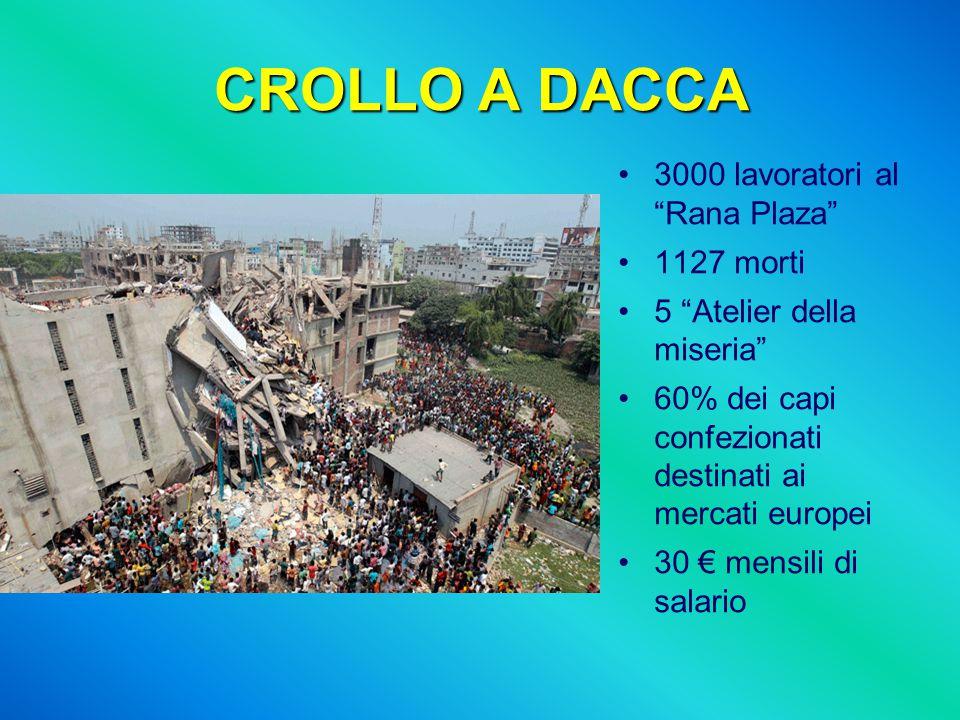 CROLLO A DACCA 3000 lavoratori al Rana Plaza 1127 morti