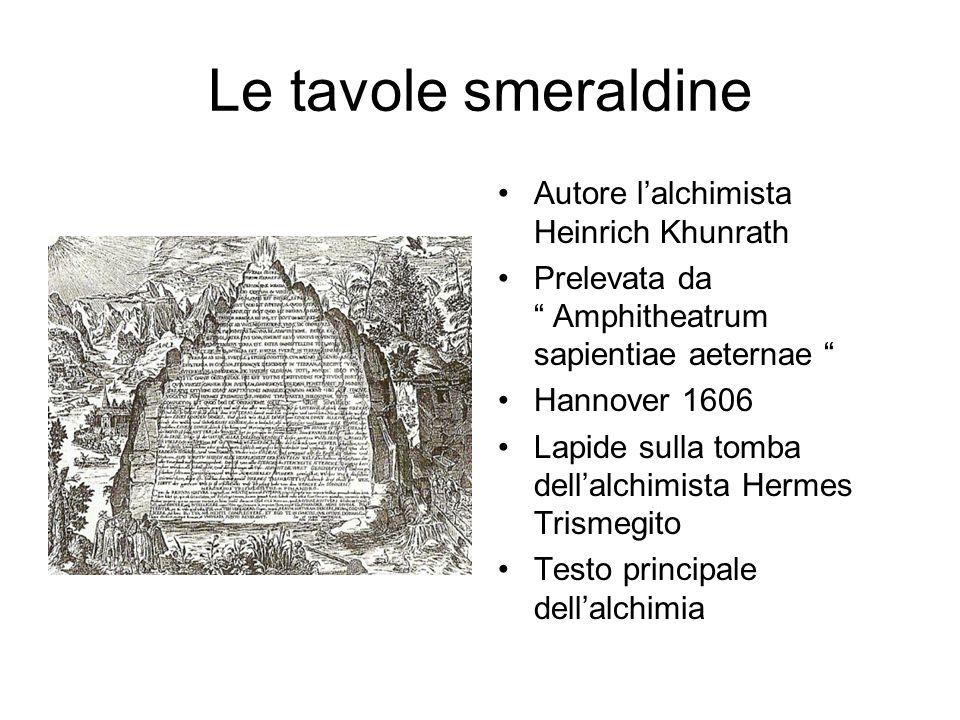 Le tavole smeraldine Autore l'alchimista Heinrich Khunrath