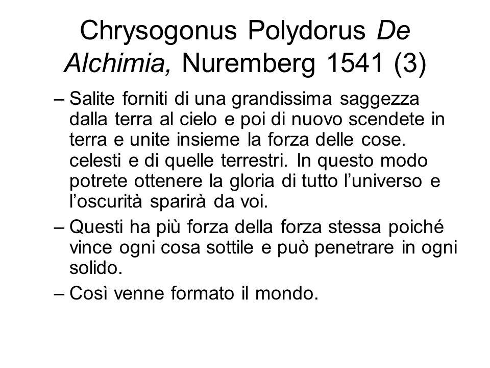 Chrysogonus Polydorus De Alchimia, Nuremberg 1541 (3)