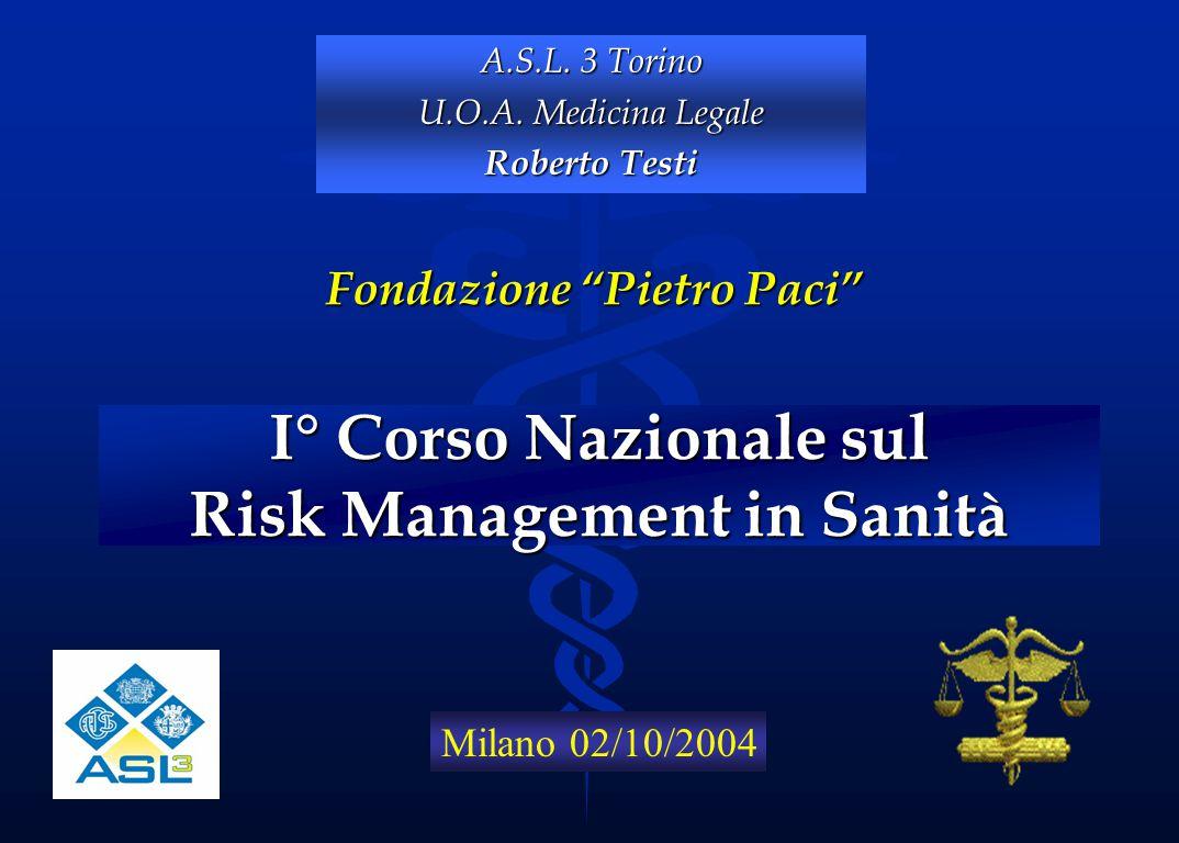 I° Corso Nazionale sul Risk Management in Sanità