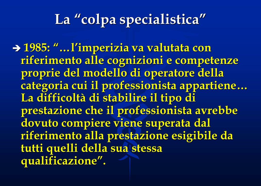 La colpa specialistica